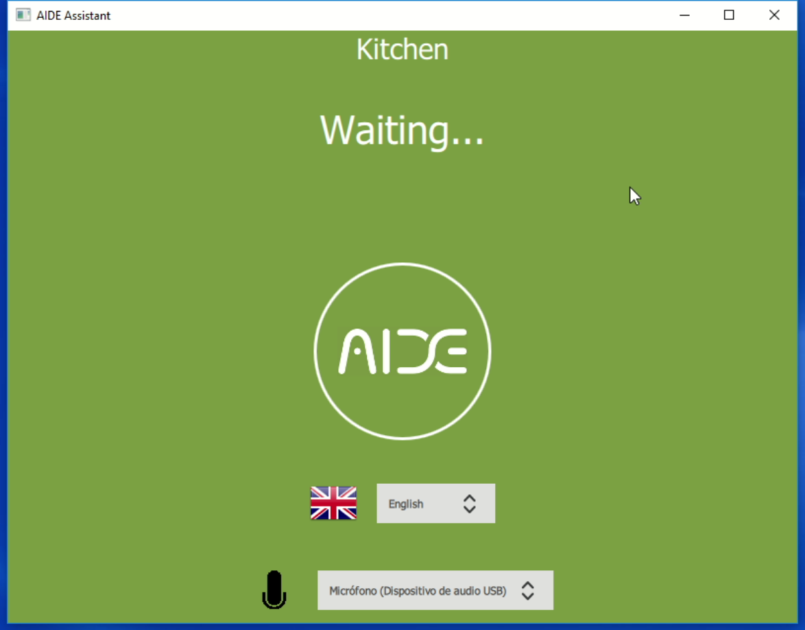 Aide assistant listening a user located in the kitchen