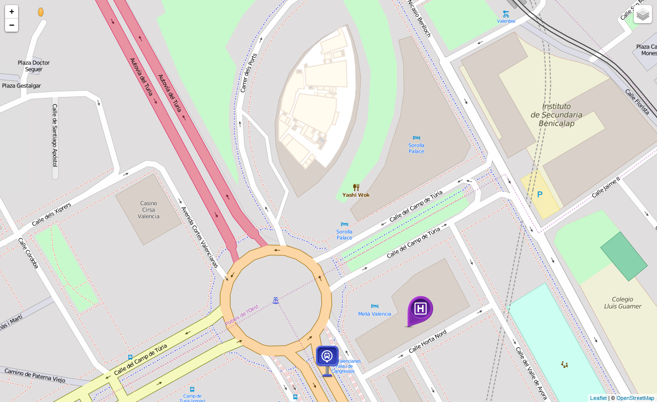 LeafletJS web application showing our indoor map with POIs